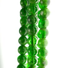 5.5MM CHROME DIOPSIDE GEMSTONE GRADE AA GREEN ROUND LOOSE BEADS 15.5""
