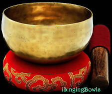 "Tibetan Meditation SINGING BOWL #3: Harmonically-balanced, 4 7/8 - 5 1/4"". VIDEO"