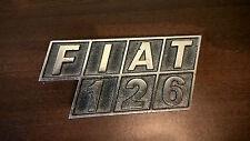 FIAT Plakette Emblem alt Oldtimer Selten Badge Enamel FIAT 126