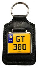 Suzuki Gt 380 Cherished Number Plate Motorcycle Leather Keyring Gift