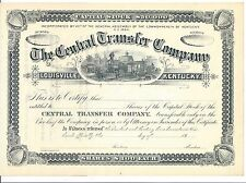 The Central Transfer Company (Louisville Kentucky) 18_ Unissued Certificate