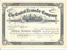 THE CENTRAL TRANSFER COMPANY (LOUISVILLE KENTUCKY) 18__ UNISSUED CERTIFICATE