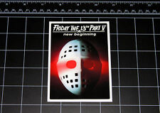 Friday the 13th Part 5 movie decal sticker Jason Vorhees Crystal Lake 80s horror