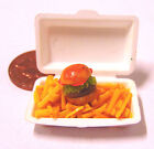 1:12th Take Away Burger & Chips - Fries Dolls House Miniature Food Accessory