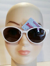 Seventeen WHITE Browline roundish Sunglasses 100% UVA-UVB protection