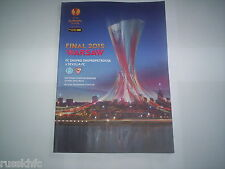 2015 UEFA EUROPA LEAGUE FINAL Dnipro Dnipropetrovsk V Sevilla programme officiel