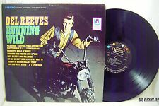 DEL REEVES Running Wild COUNTRY Stereo 1968 UA Near Mint LP