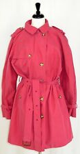 Womens Tommy Hilfiger Trench Coat Raincoat Pink Belted 2X