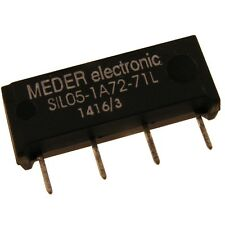 Meder SIL05-1A72-71L Relais 5V 1xEIN 500 Ohm SIL Reed Relay ohne Diode 047175