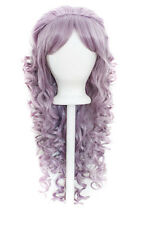 """28"""" Curly Layered Cut with Teased Bump and Short Bangs Lilac Purple Wig NEW"""