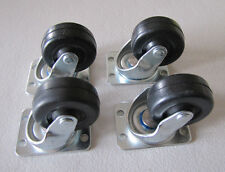 4 New Rock-ola Casters Wheels Jukebox Models 404 408 414 418 1448 1452 1454 1455
