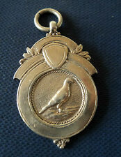 Vintage Sterling Silver Medal / Watch Fob / Pendant - Racing Pigeon h/m 1925