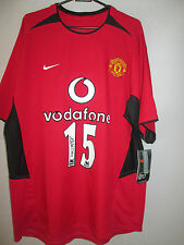 Kleberson 02-04 Signed Manchester United Home Football Shirt with COA /11375