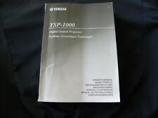 Yamaha  YSP-1000  Factory Original Owner's manual Mode D'emploi Istruzioni New