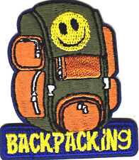 """BACKPACKING""-  SPORTS - HIKER - OUTDOORS - CAMPING - IRON ON EMBROIDERED PATCH"