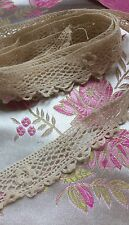 Antique Irish Crochet Doll Trim Dainty Lace Dolls Edging Costume Remnant 51""