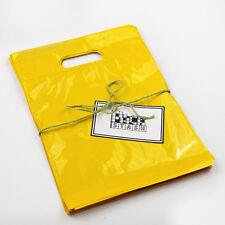 500 9x12 YELLOW Plastic Retail Die-Cut Handle Merchandise Bag - Boutique