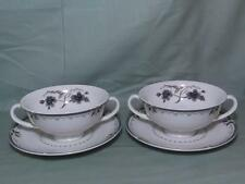 2 Royal Doulton Old Colony Cream Soup Cups & Saucers TC.1005