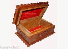 Massiv Holz Schmuckkästchen kasten schatulle box truhe schmuckaufbewahrung 15192