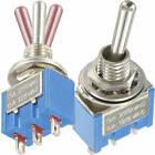 Standard Miniatur Kippschalter 1x EIN-AUS-EIN 3/6A 250/125V AC 36V 3A DC