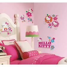 HELLO KITTY Floral Boutique wall stickers 39 decal scrapbook Sanrio decor Cat