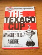 15/09/1971 Manchester City v Airdrieonians [Texaco Cup] (Token Removed, Punched