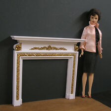 GEORGIAN  FIREPLACE ~for  BARBIE ~ 1:6 scale  Furniture ~ PLAYSCALE~ Gold Detail