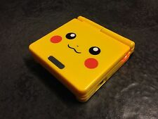 Yellow Pikachu Pokemon GBA Nintendo Gameboy Advance SP Console + more