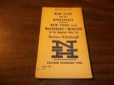 OCTOBER 1962 NEW HAVEN NYNH&H PUBLIC TIMETABLE NAUGATUCK VALLEY SERVICE FORM 228