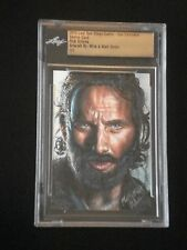 MICK & MATT GLEBE LEAF 2015 SDCC EXCLUSIVE SKETCH CARD RICK GRIMES WALKING DEAD