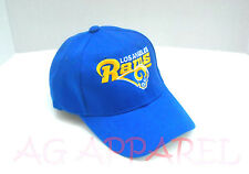 Los Angeles LA Rams Hat Cap One Size Adjustable Blue New!!