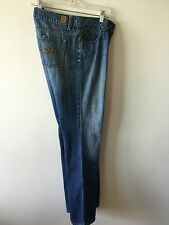 Women's GUESS Style 81 Stretch Flare Jeans Size Tag 30 Measure 33x32 USA