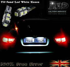 2x T10 9SMD LED WHITE NUMBER PLATE LIGHT FREE ERROR MAZDA RX 8 2003-2012