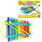 Kids Childrens Traditional Metal Rainbow Xylophone Musical Toy Instrument 384002