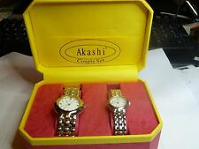 Couple of Akashi His & Hers Watches in original Gift Box.hardly used RRP £149.00