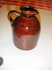 minature stoneware syrup pitcher Stenciled base Maple syrup Burlington VT.MINT!