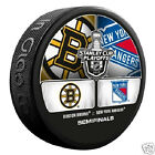 BOSTON BRUINS vs NEW YORK RANGERS 2013 Stanley Cup Semifinals DUELING LOGO PUCK