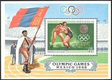 Mongolia 1968 Wrestling/Olympic Games/Medals/Sports/Olympics 1v m/s (n17508)