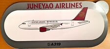 JUNEYAO AIR, Airbus A319, Original, High Quality Print, new, HIGHLY RARE !!!