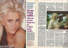 Coupure de presse Clipping 1990 Joan Van Ark  (3 pages) Dallas Cote Ouest