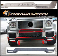 AMG G63 Style Front Bumper Bottom Spoiler (Lip) w/LED for Mercedes W463 G class