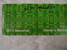 1970  Ford Maverick ORIGINAL OWNERS Manual Used Free Shipping