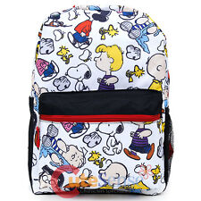 Peanuts Large School Backpack All Over Prints Snoopy Book Bag -Cartoon AOP