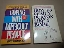 2 book Combo -- Coping with Difficult People -  How to Read a Person Like a Book
