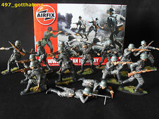 Airfix 1/32 German Infantry WW2. professionally painted. 54mm.