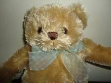 Animal Alley Toys R Us Canada Golden TEDDY BEAR 11 Inch with Chiffon Ribbon 2009