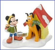 "Dept. 56 Disney Village ""A SPECIAL SNACK FOR PLUTO"" ~ RETIRED ~ MIB"