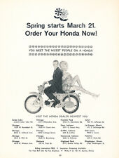 1966 Honda motorcycle Scooter - Car Advertisement Print Ad J227