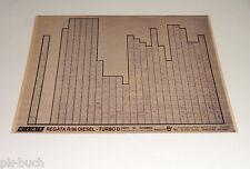 Microfich Ersatzteilkatalog Fiat Regata R / 86 Diesel  - Turbo D 60331375