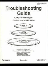 Rare Factory Panasonic Technics Quasar CD Player Troubleshooting Guide 1986-1990